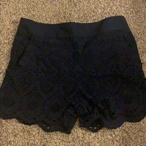 Ann Taylor Loft Navy Scalloped shorts